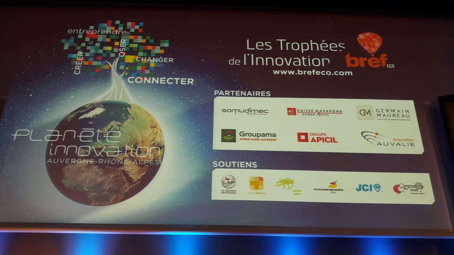 Trophées de l'innovation Eref Eco catégorie jeune pousse